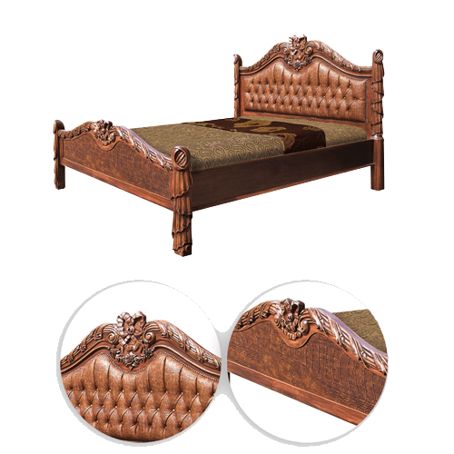 PRODUCTS CATEGORIES\BEDROOM\BEDS & HEADBOARDS\007 ARRDENA.COM RUSTIC FURNITURE AR 09 Queen Size Bed