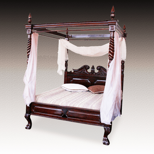 PRODUCTS CATEGORIES\BEDROOM\BEDS & HEADBOARDS\007 ARRDENA.COM RUSTIC FURNITURE BD 001 Poster Bed