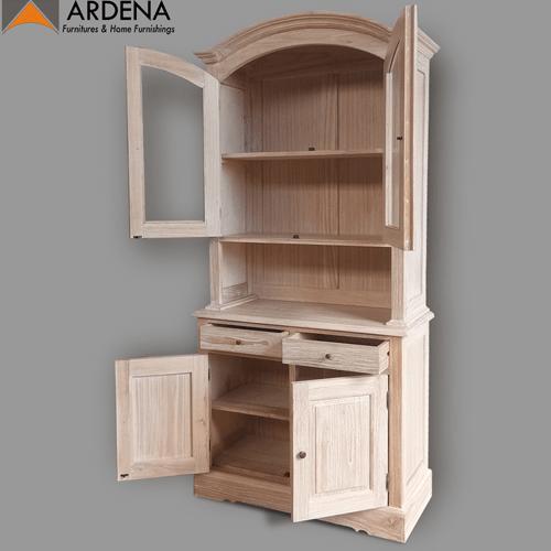 Lime wash finished wooden kitchen Cabinet